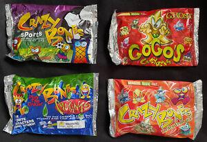 Gogos Crazy Bones Sealed Packs, Vintage Original 1990's Bundle Mutants Ghost Etc