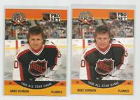 1990-91 Pro Set Error Variation Mike Vernon Hockey Card #338 Reversed Back +MORE