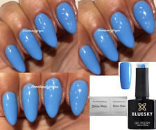 BLUESKY GEL POLISH BLUE LIGHT SKY BLUE IRIS A101 NAIL UV LED SOAK OFF,ANY 2=FILE