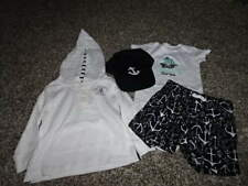 CARTER'S 18M 18 MONTHS ANCHOR PIRATE SHIP 4PC LOT HAT SHORTS HOODIE ONE PIECE