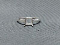 Details about  /Sterling Silver 5 mm Square Semi Mount Ring Setting 5 mm Square Stone Ring Blank