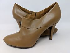 9c7d0c5c4928 AERIN PEMBROKE TAN OCHRE LEATHER HIGH HEEL ANKLE BOOTS BOOTIES SIZE 9 M