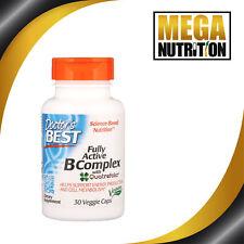 Doctors Best Fully Active Vitamin B Complex 30 Veggie Caps Energy & Metabolism