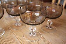 Luminarc France ? Dessertgläser Sektschalen Rauchglas braun 7 Stk. 70er Jahre