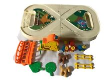 Vintage 1982 Tomy Tote Along Train Toy Set In Carrying Case Collectible