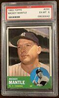1963 Topps #200 Mickey Mantle - Yankees - HOF - PSA 6 - Ex-MT - 09030842 - (SCA)