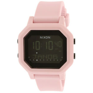 Nixon Siren Silicone Pale Pink Digital High/Low Tide Ladies Watch A1210-3154