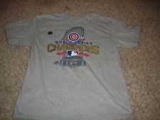 MLB Chicago Cubs 2016 World Series Champions shirt boys youth (L) 14/16 baseball