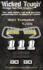 YAMAHA 1981 YZ80 WICKED TOUGH DECAL GRAPHIC KIT