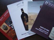 Lot de 4 Catalogues de vente Vins spiritueux Bougogne Bordeaux