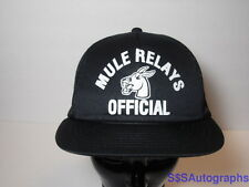 Vintage University Central Missouri Official Mule Relay Track Field Snapback Cap
