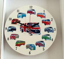 Reloj De Pared Camper Van Reloj de pared, Redondo Clásico De Colección Camper Van, Reloj V DUB