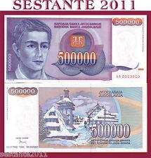 YUGOSLAVIA 500000 500.000  DINARA  1993 RARA SCARCE  P 119  FDS / UNC  PREFIX AA