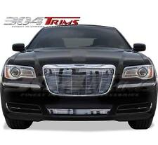 FITS CHRYSLER 300 300C 2011 - 2014 CHROME BILLET GRILLE OVERLAY TOP & BOTTOM