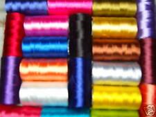 20 bobines de machine à coudre fils à broder en soie art, 20 bonne couleurs