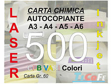 Carta CHIMICA autocopiante A4 500 CFB * carbone ddt ricevute stampa laser inkjet