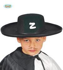 Cappello Uomo Mascherato da Bambino Travestimento Zorro Carnevale nuovo