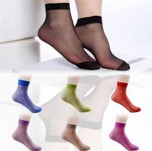 12 Pairs Ladies Ankle High Ultra-Thin Socks Short Nylon Summer Socks uk 3-7