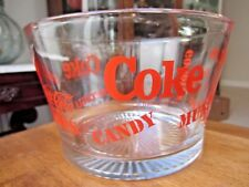 """Coca Cola, Large Glass Bowl for Munchies, Popcorn, Candy, etc. 7.5"""" diameter"""