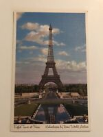 Eiffel Tower at Paris Postcard Kodachrome by Trans World Airlines TWA