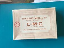 VINTAGE DMC MADE IN FRANCE EMBROIDERY  FLOSS THREADS ORIG BOX 4 SKEINS
