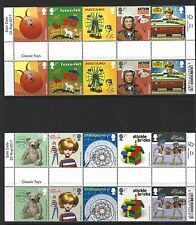 GREAT BRITAIN 2017 CLASSIC TOYS  SET OF 10 GUTTER PAIRS UNMOUNTED MINT, MNH