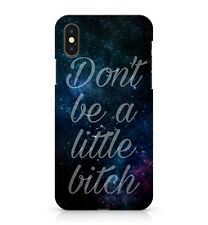 Don'T Be un Little Bitc Frase Estrellada Azul Milky Way Galaxy Cielo Funda Funda