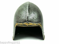 Medieval Knight Bascinet Helmet Fancy Dress Shield AccesoryRole Play Stage LARP