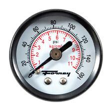 Forney  Plastic  1-1/2 in. Rear Mount  Air Pressure Gauge  1/8 in. NPT  160 psi