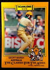 SCANLENS-AUSTRALIA: GEOFF MARSH 1986-87 CLASHES FOR THE ASHES Cricket Card # 58