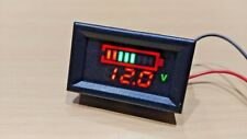 12V Battery Capacity Charge Indicator Level Lead-Acid LED Tester Voltmeter