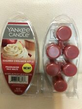 Yankee Candle Sugared Cinnamon Apple Fragranced Wax Melts 2 Pkgs NEW! Red