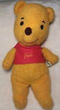 "WINNIE THE POOH Vintage 13"" Stuffed Bear Plush J Swedlin Teddy Disney Robin"