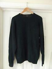JAMES PRINGLE Dark Green Long Sleeve Jumper Pure New Wool Men's Size Medium