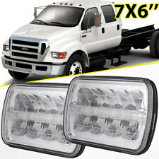 """2X 7X6"""" 5X7"""" 45W High Low Beam DRL CREE LED Headlight Sealed For Ford F650 F750"""
