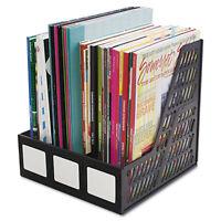 Advantus Literature File Three Slots Black 34091