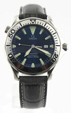 2265.80 Omega Seamaster Popular Blue Dial with Polished Bezel Large Quartz Watch