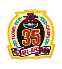 AFL-AFC Texans Chiefs 35 Years Celebration Embroidered Patch