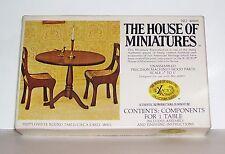 VINTAGE DOLLHOUSE HOUSE OF MINIATURES HEPPLEWHITE ROUND TABLE 1800S KIT 1977