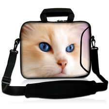"""17-17,3"""" LAPTOP BAG WITH HANDLE & SHOULDER STRAP 4 Sony Apple Mac Dell  #PinkCat"""