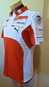 2012 Ducati Motogp Team Issues Polo Shirt Valentino Rossi 46, Nicky Hayden 69