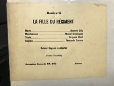 Le Fille Du Regiment DONIZETTI Beverly Sills,Greenspan GAGNON PRIVATE full db LP