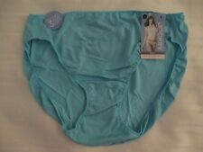 JOCKEY 8 BIKINI 1370 TACTEL NO PANTY LINE PROMISE SOLID AQUA POOL BLUE PANTIES