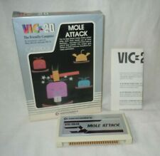 Commodore VIC-20 Mole Attack Cartridge with Manual and Box