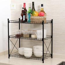 2/3 Tier Kitchen Microwave Oven Storage Shelf Steel Stand Rack Cabinet Hold