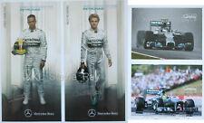 New listing (4) Mercedes Formula 1 Hero Card Photo Lot Lewis Hamilton and Rosberg F1 Racing