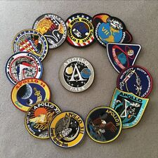 13 Pcs Nasa Apollo Mission Collage Space Embroidered Patches Applique Badge set