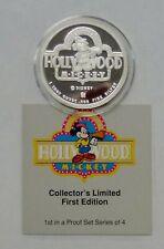 Disney HOLLYWOOD MICKEY 1928 Rarities Mint 1989 1 OF 4  1 ozt .999 Silver w/COA