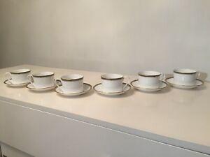 SPODE Park Lane 6 x Fine Bone China Coffee Cups & Saucers