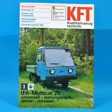 DDR KfT Kraftfahrzeugtechnik 9/1978 Multicar 25 Camptourist 6-2 MZ Robur Niwa S